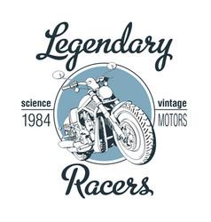 Legendary racers poster vector