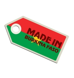 Made in Burkina Faso vector image vector image