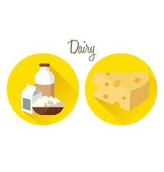 milk cheese vector image vector image