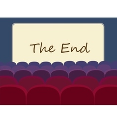 Movie theater and movie screen vector
