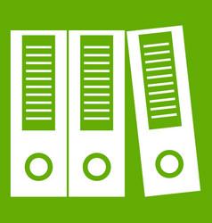 Office folders icon green vector