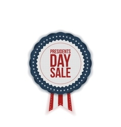 Presidents Day Sale realistic Emblem with Ribbon vector image vector image