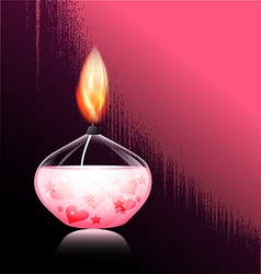romantic candle vector image vector image
