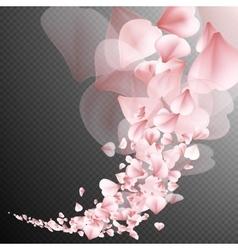 Sakura flying petals EPS 10 vector image vector image