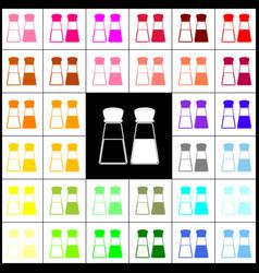 Salt and pepper sign felt-pen 33 colorful vector