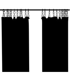 shower curtain silhouette vector image vector image
