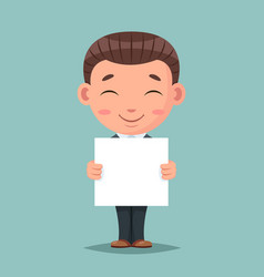 smiling blank paper promotion advert stick cute vector image