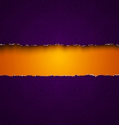 torn paper purple vector image