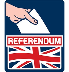 United kingdom referendum poster vector
