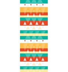 Vibrant ikat stripes vertical seamless pattern vector image vector image