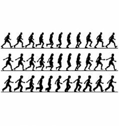 walkers vector image