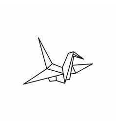 Origami dove icon outline style vector
