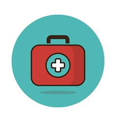 First aid kit flat icon medical vector