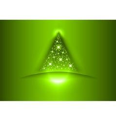 christmas tree star green vector image