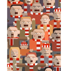 Child in an angry crowd vector