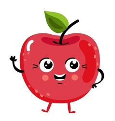Funny fruit cherry isolated cartoon character vector