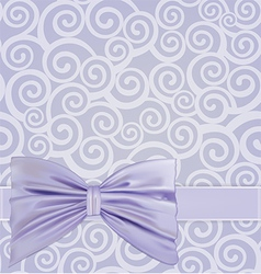 Curlicues ribbon bow vector