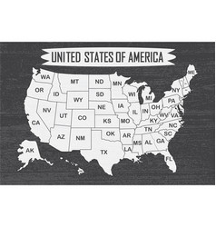 Poster map of united states of america with state vector