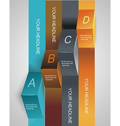 Step by step infographics levels of your data vector