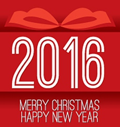 2016 Greeting Card vector image vector image
