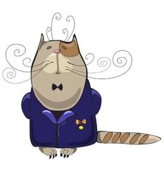 Cat man vector