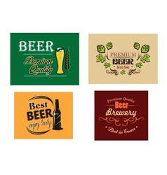 Beer advertising posters vector image