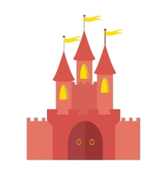 Fairytale castle vector