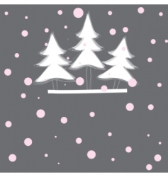 Christmas tree vector illustration vector image