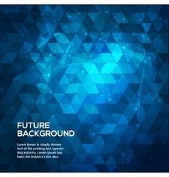 Abstract blue background with triangles abstract vector