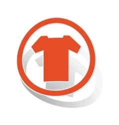 T-shirt sign sticker orange vector