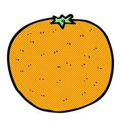 Comic cartoon orange vector