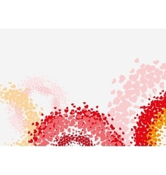 Abstract background with heart shape vector
