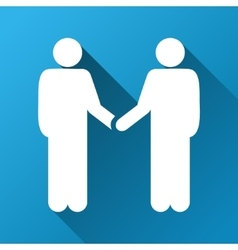 Person handshake gradient square icon vector