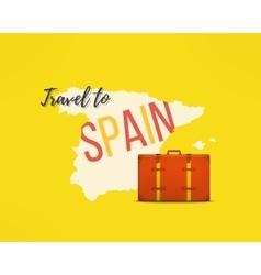 Travel to spain concept spanish traveler vector