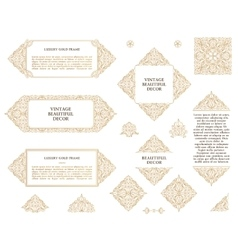 Arabic set of frames lines art design vector