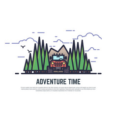 adventure time offroad vector image vector image