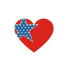 America usa logo love star icon vector