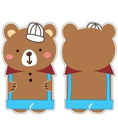 bear card vector image