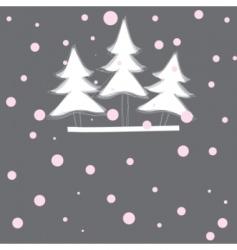Christmas tree vector illustration vector image vector image