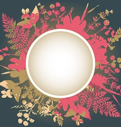 Decorative frame with flowers and herbs vector image vector image
