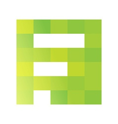 F letter pixels square logo vector image vector image