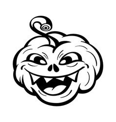 Funny pumpkin vector image vector image
