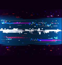 Glitch color effect background digital noise vector