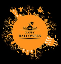 Hallowen round vector
