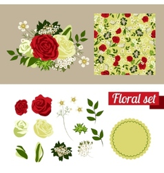 Hand Drawn floral elements Set of flowers You can vector image vector image