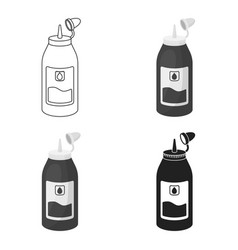 ink in cartoon style isolated on white background vector image