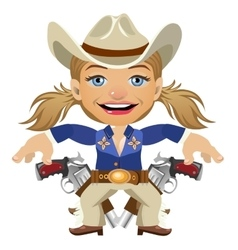Lovely lady sheriff character closeup vector