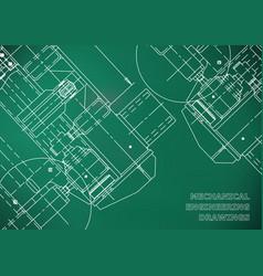 Mechanical engineering drawing blueprints vector