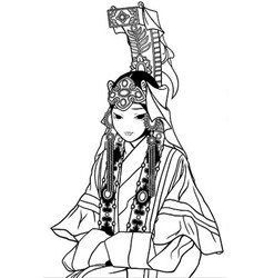 Mongolian princess vector image