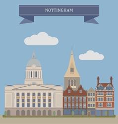 Nottingham vector image